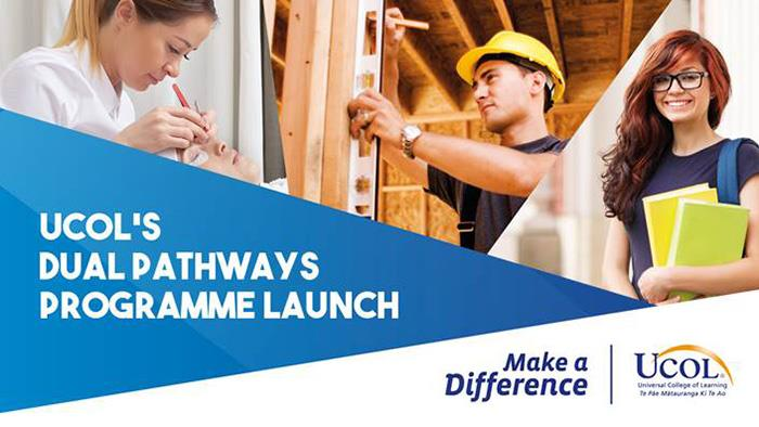 An invitation to UCOL's Dual Pathways launch event