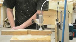 A close up of furniture design in action
