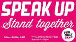 Pink Shirt Day banner graphic