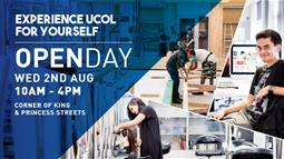 A graphic featuring UCOL's Open Day 2017