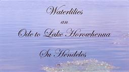 Part of a poster for Waterlilies an Ode to Lake Horowhenua