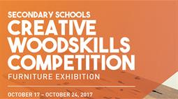 A graphic banner featuring Secondary Schools Creative Woodskills Competition