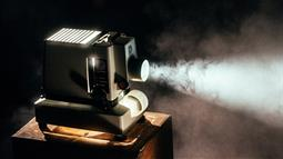 A photograph of a movie projector