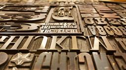 A photograph of wooden type