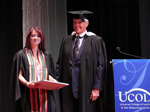 A photograph of the UCOL Alumni Award ceremony