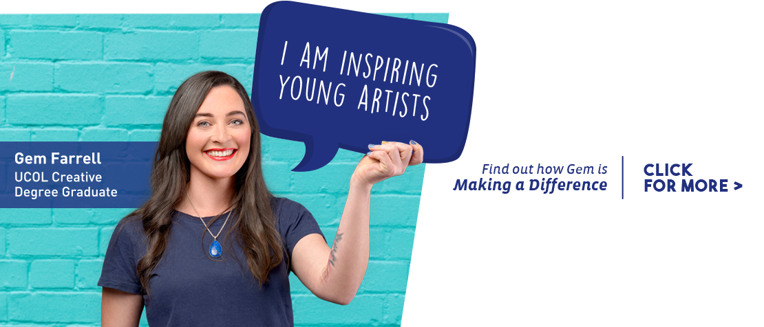 Find out how UCOL Creative Graduate Gem Farrell is inspiring young artists.
