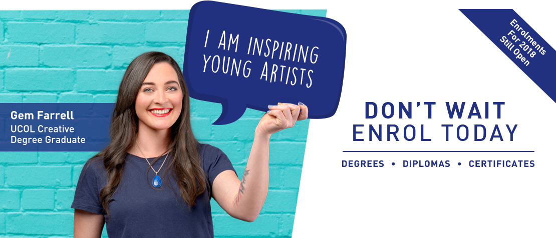 Find out how UCOL design graduate Gem Farrell is inspiring young artists.