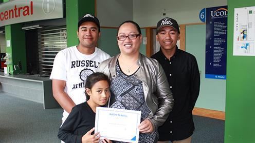 Alexandra Kumeroa and family