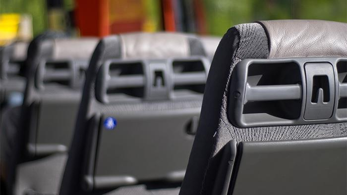 Seats on commuter bus