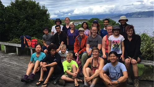 Students from Earlham College enjoying the sights on Kāpiti Island