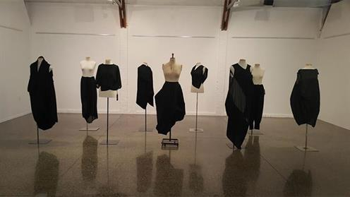 Sustainable garments exhibit