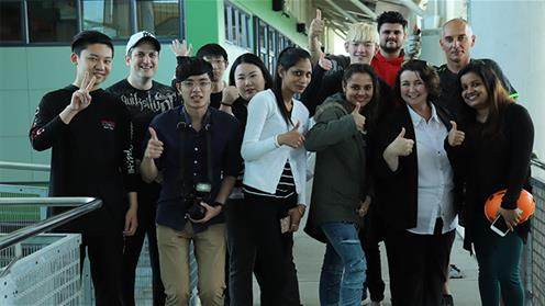 A group of English language students at UCOL