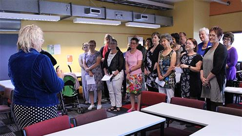 UCOL nursing team performing a waiata