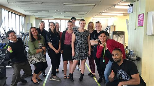 UCOL Bachelor of Exercise and Sport Science students pictured at Palmerston North City Council's gym