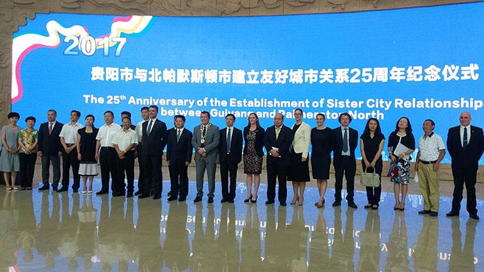 A delegation of people in Guiyang, China from Palmerston North