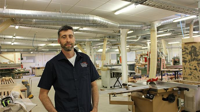 Richard Sexton at UCOL trades centre