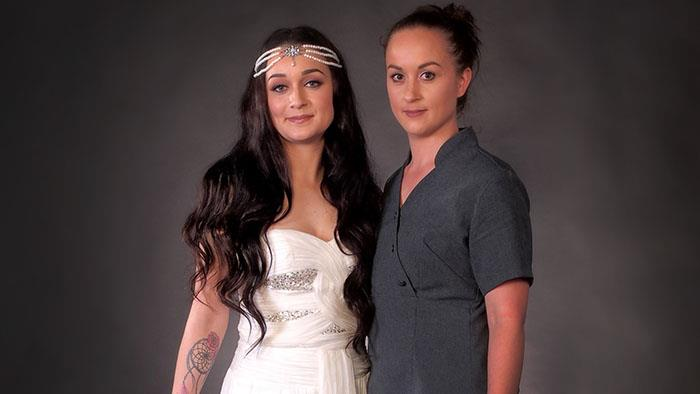 UCOL Certificate in Beauty Services student with her model