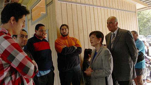Students meeting New Zealand's Governor General the Rt Hon Dame Patsy Reddy