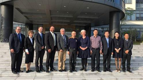 UCOL delegation in Dongguan China