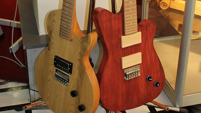 Wooden electric guitars