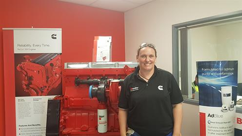 A photograph of UCOL Automotive Engineering Graduate Hillary Moffatt