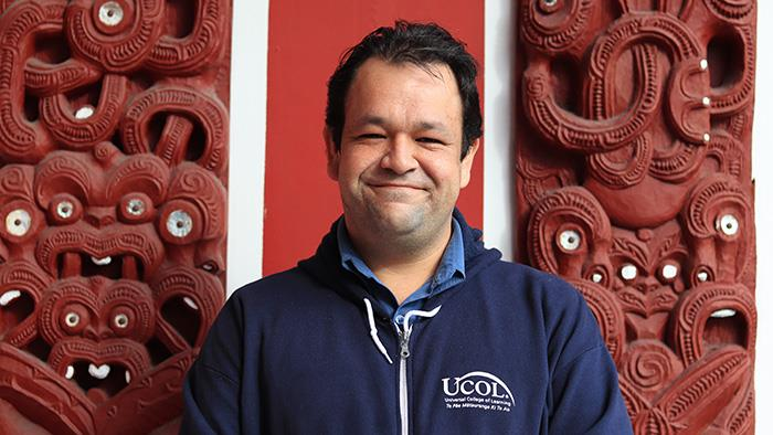 A photograph of UCOL Health and Sciences Graduate Jared Renata