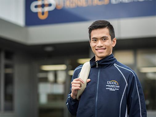 A photograph of an international UCOL student
