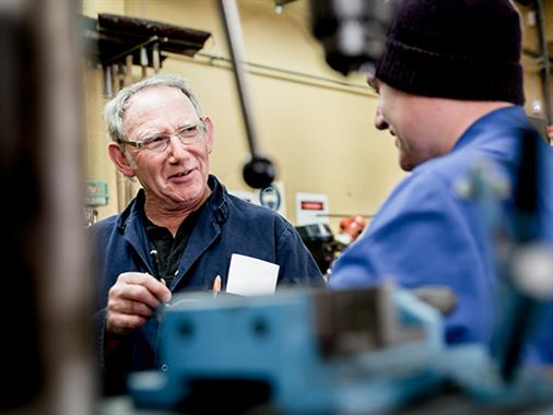 UCOL Automotive Lecturer teaching in a workshop