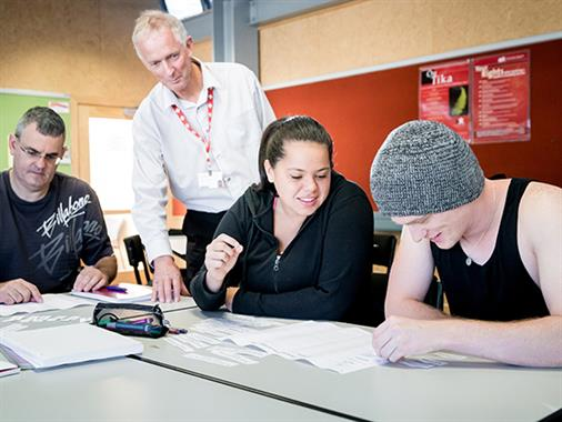 Whanganui UCOL Business Lecturer teaching in a classroom