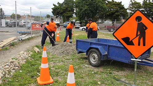 Infrastructure Works students from UCOL's Horowhenua Campus