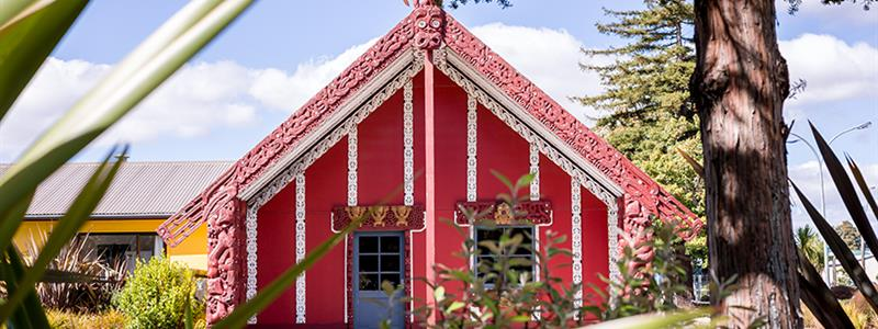 A photograph of the marae at UCOL's Wairarapa campus in Masterton.