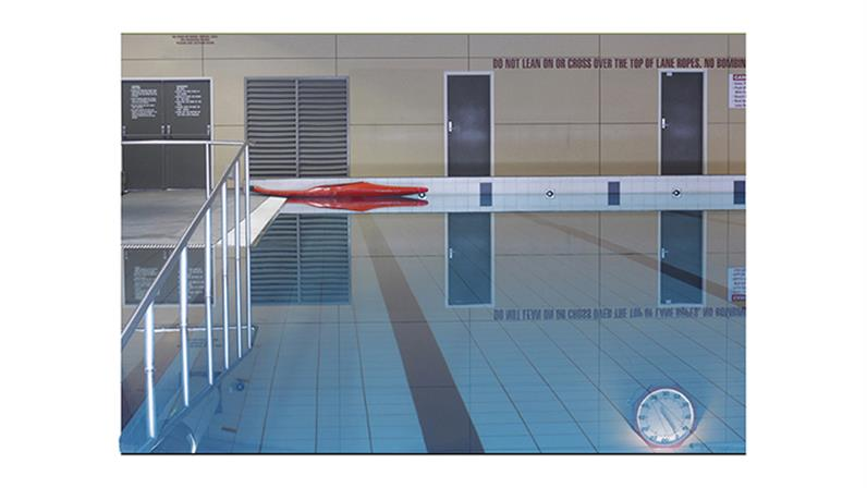 Swimming pool - first year creative student Reuben Parr