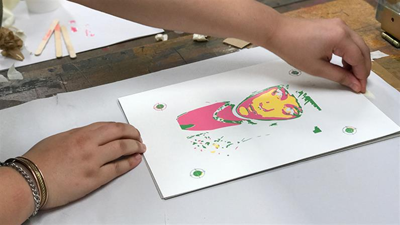 Adusting a screenprint