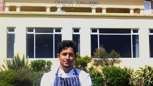 Arjun Singh at his workplace, Chateau Tongariro