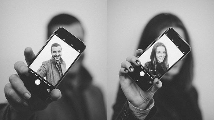 Selfie photographs of UCOL Creative Graduates Kelvin Gilbert and Amy Fowler