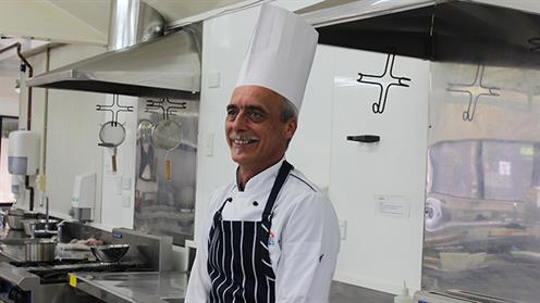 A photograph of UCOL Chef Training Lecturer Eddie Bleach.